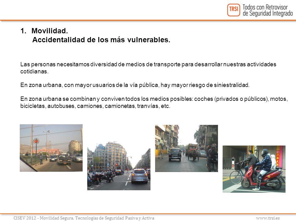 Accidentalidad de los más vulnerables.