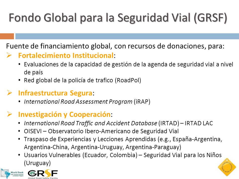 Fondo Global para la Seguridad Vial (GRSF)