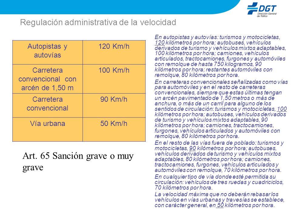 Regulación administrativa de la velocidad