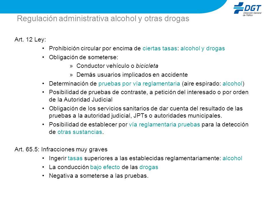 Regulación administrativa alcohol y otras drogas
