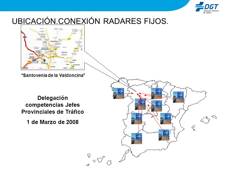UBICACIÓN.CONEXIÓN RADARES FIJOS.