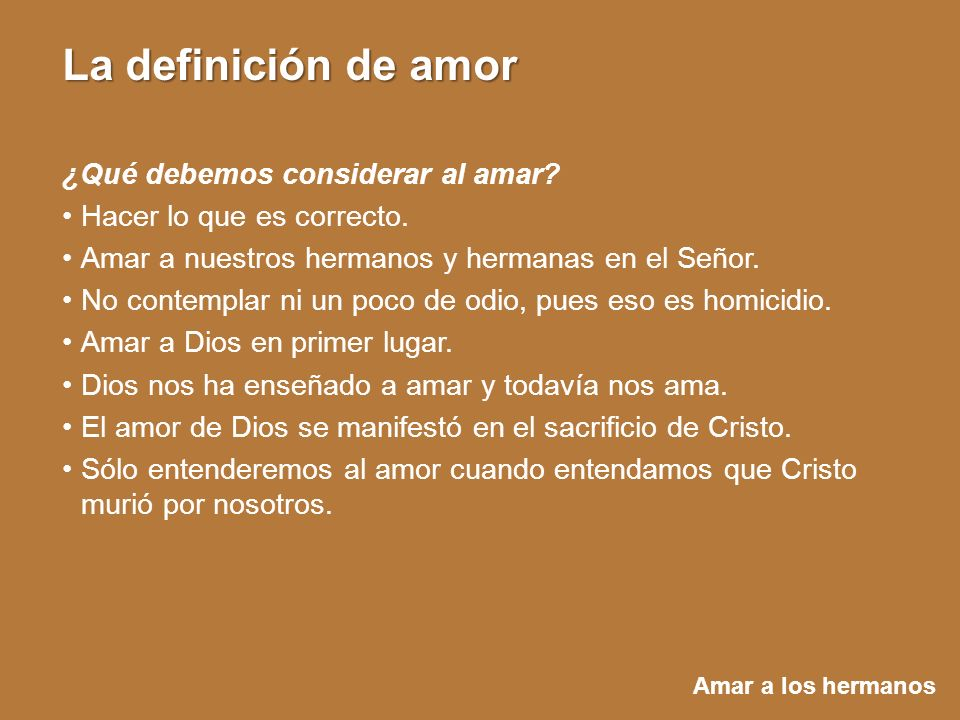 ¿Qué debemos considerar al amar