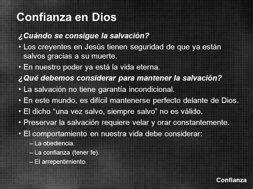 ¿Cuándo se consigue la salvación