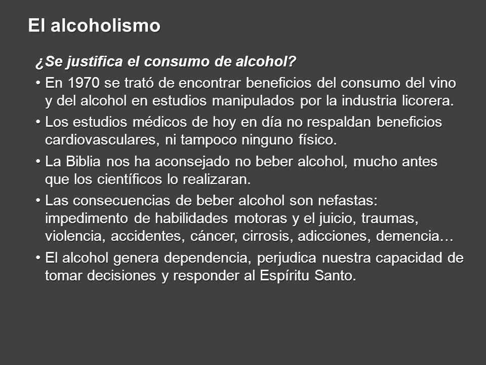 ¿Se justifica el consumo de alcohol