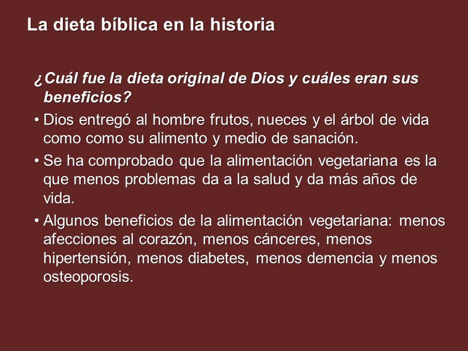 ¿Cuál fue la dieta original de Dios y cuáles eran sus beneficios