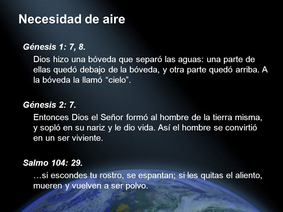 Génesis 1: 7, 8.