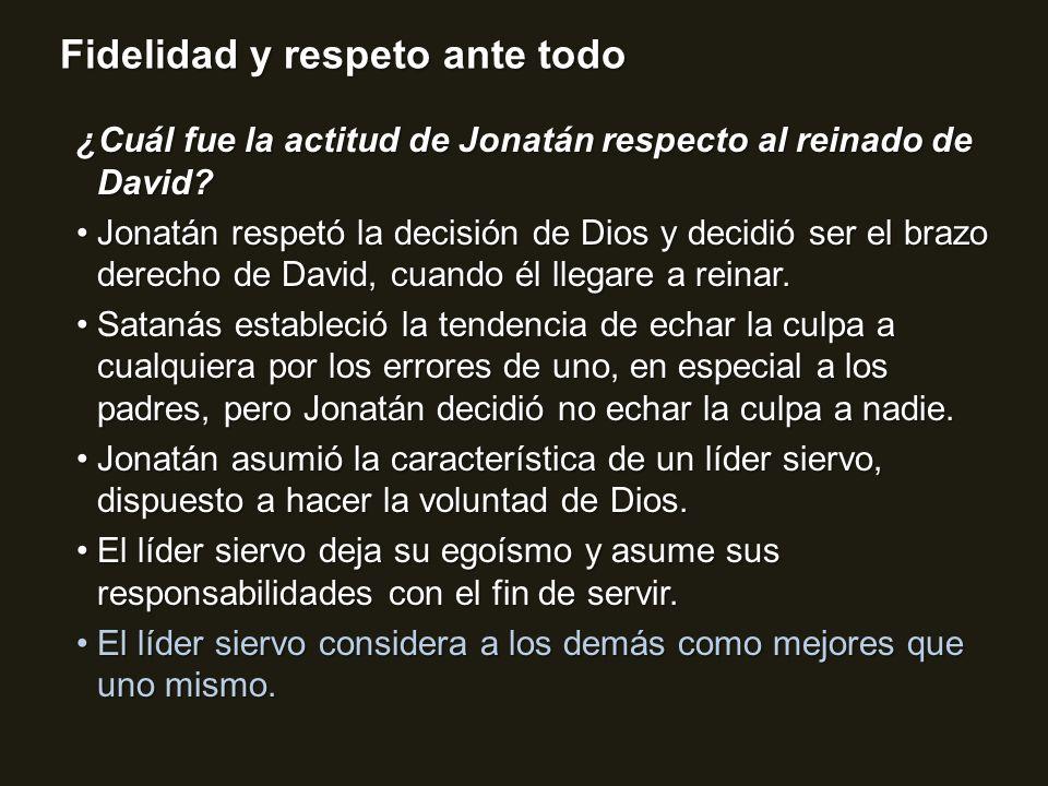 ¿Cuál fue la actitud de Jonatán respecto al reinado de David