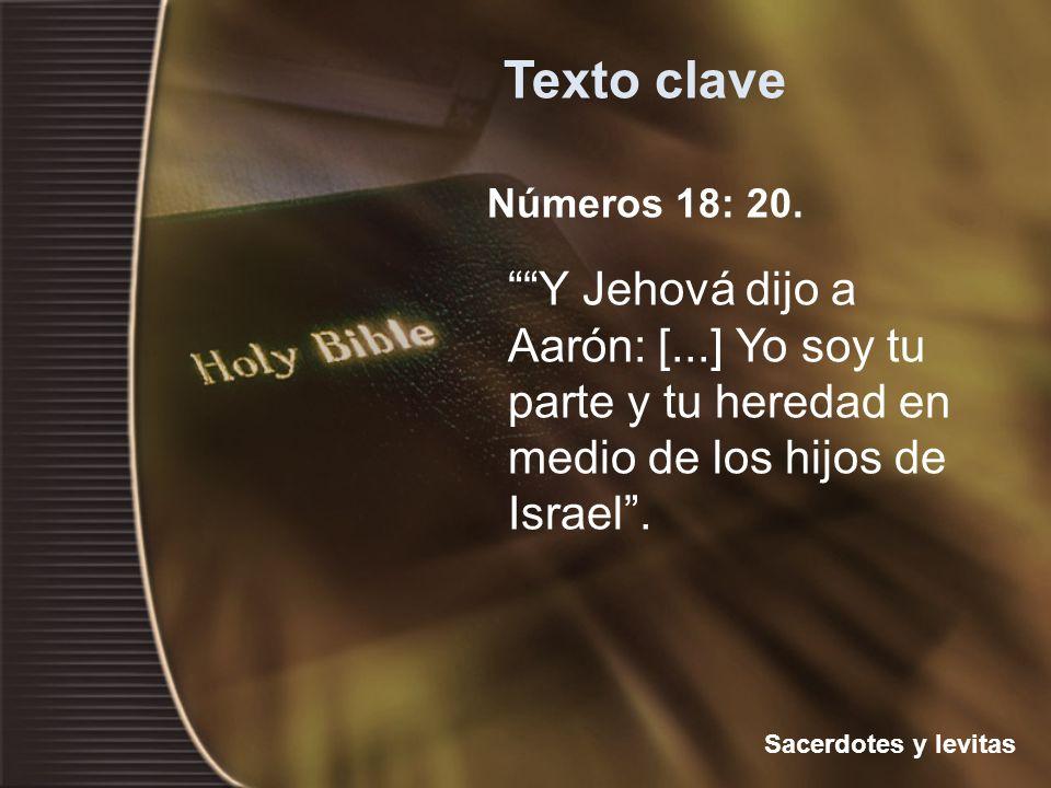 Texto clave Números 18: 20.