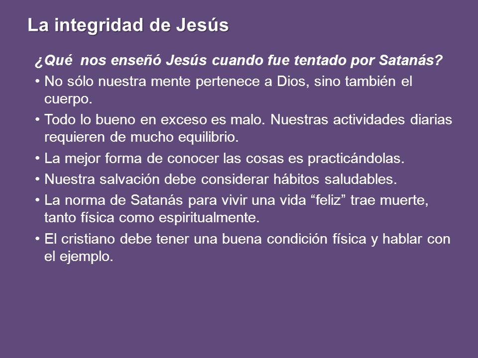 ¿Qué nos enseñó Jesús cuando fue tentado por Satanás