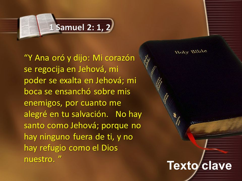 1 Samuel 2: 1, 2