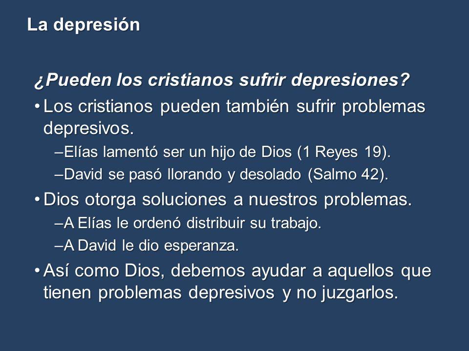 ¿Pueden los cristianos sufrir depresiones