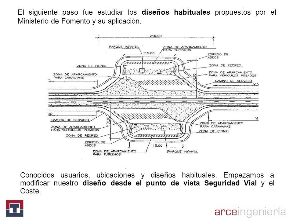 El siguiente paso fue estudiar los diseños habituales propuestos por el Ministerio de Fomento y su aplicación.