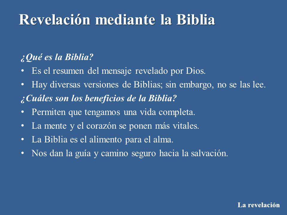 ¿Qué es la Biblia Es el resumen del mensaje revelado por Dios. Hay diversas versiones de Biblias; sin embargo, no se las lee.