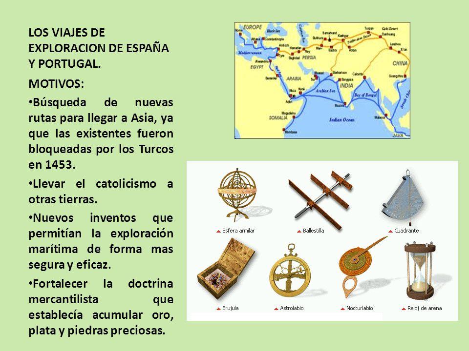 LOS VIAJES DE EXPLORACION DE ESPAÑA Y PORTUGAL.