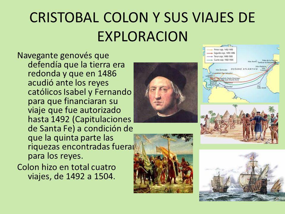 CRISTOBAL COLON Y SUS VIAJES DE EXPLORACION