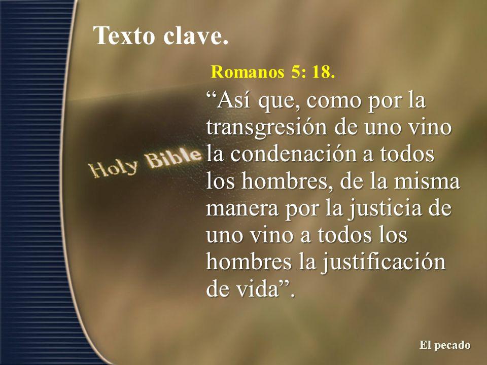 Texto clave.Romanos 5: 18.