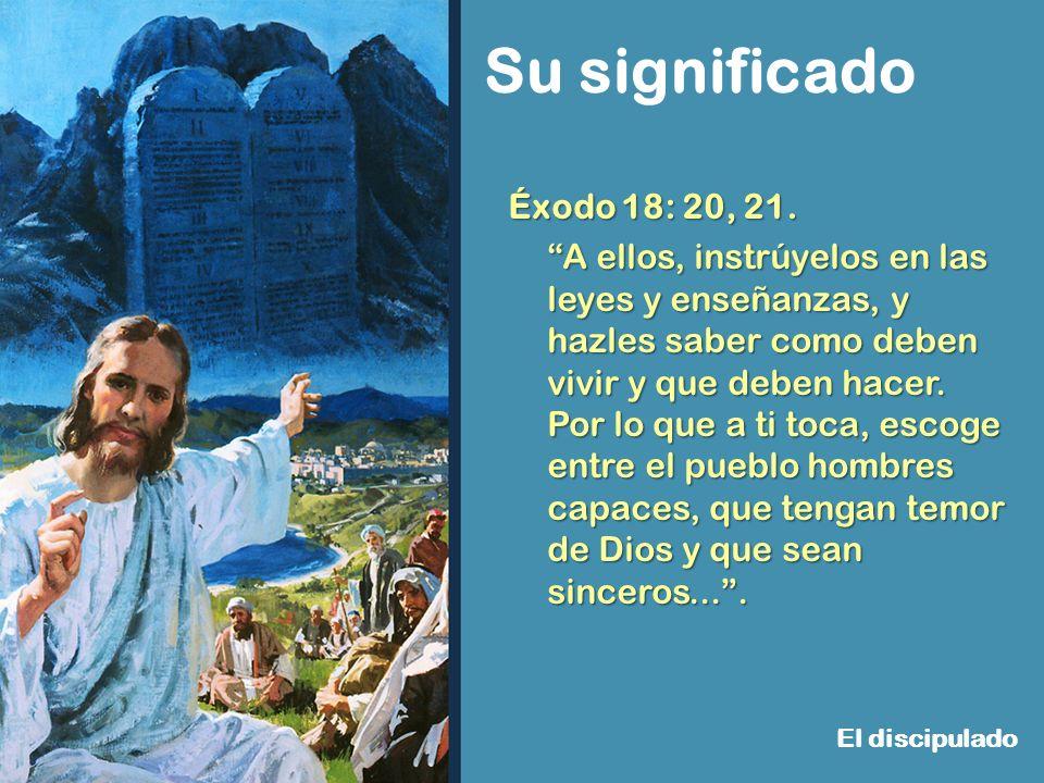 Éxodo 18: 20, 21.