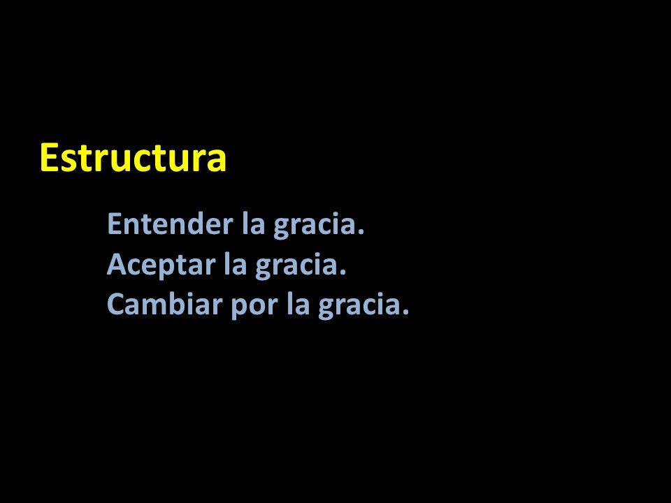Estructura Entender la gracia. Aceptar la gracia.