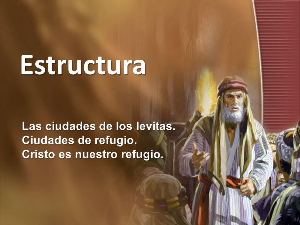 Estructura Las ciudades de los levitas. Ciudades de refugio.