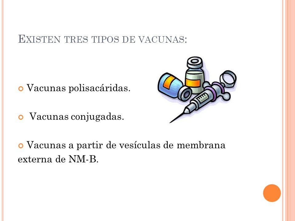 Existen tres tipos de vacunas: