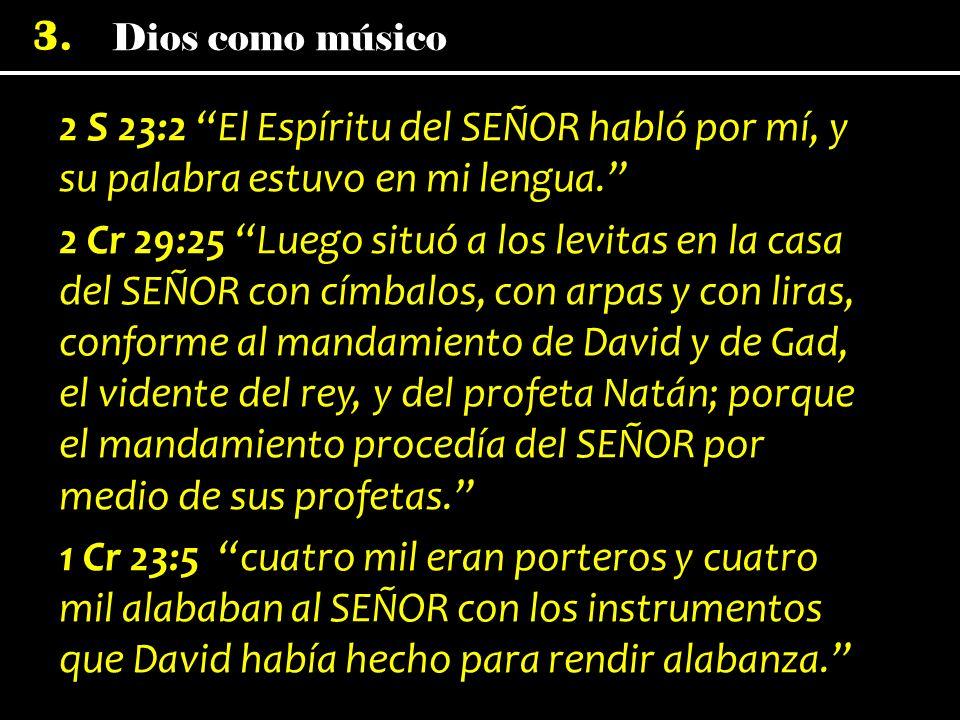 2 S 23:2 El Espíritu del SEÑOR habló por mí, y su palabra estuvo en mi lengua.