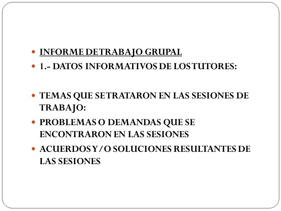 INFORME DE TRABAJO GRUPAL