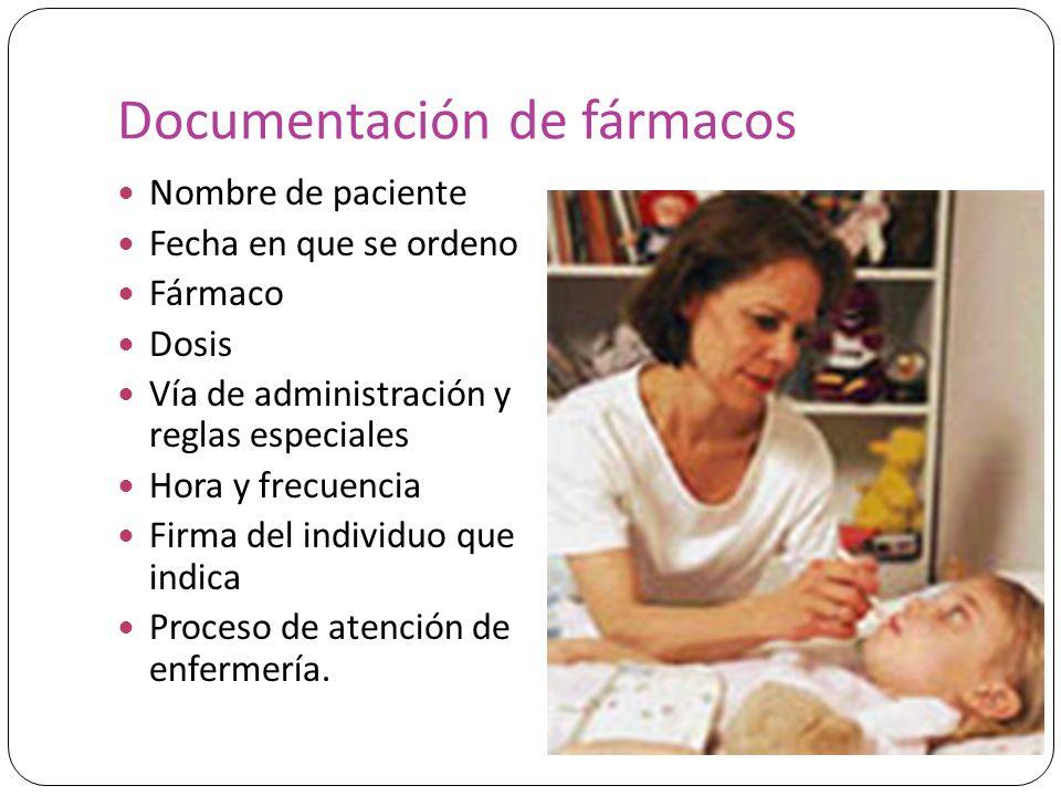 Documentación de fármacos