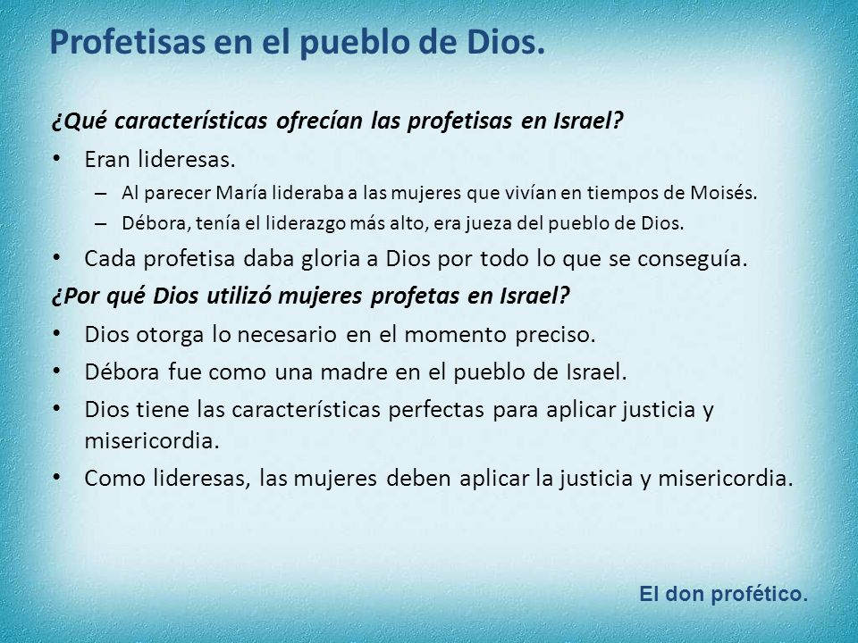 ¿Qué características ofrecían las profetisas en Israel