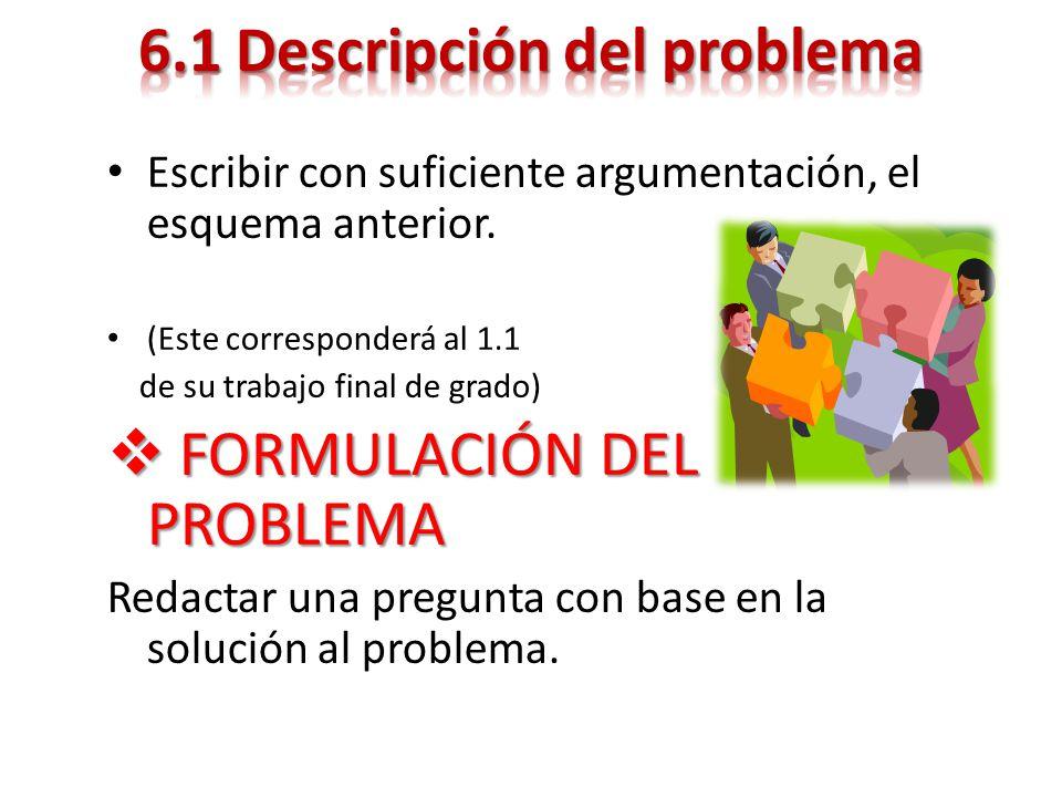 6.1 Descripción del problema