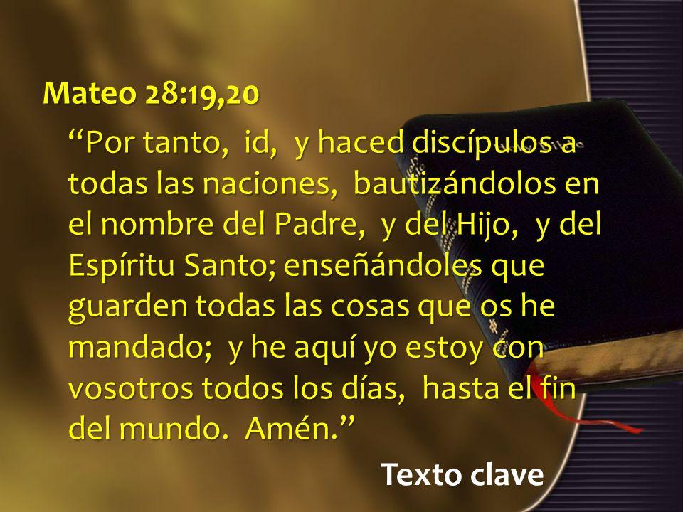Mateo 28:19,20