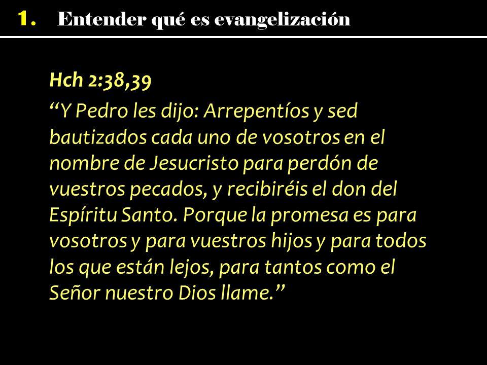 Hch 2:38,39 Y Pedro les dijo: Arrepentíos y sed bautizados cada uno de vosotros en el nombre de Jesucristo para perdón de vuestros pecados, y recibiréis el don del Espíritu Santo.
