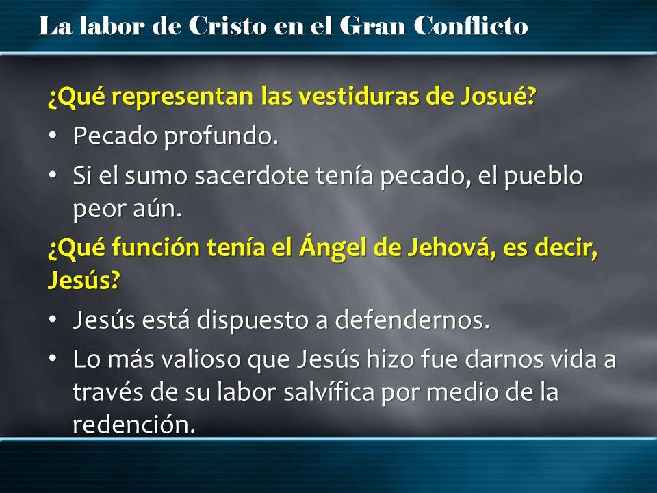 ¿Qué representan las vestiduras de Josué