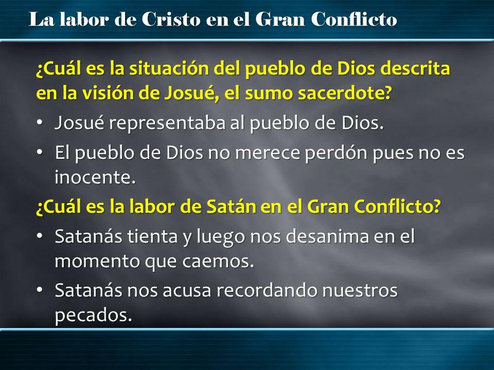 ¿Cuál es la situación del pueblo de Dios descrita en la visión de Josué, el sumo sacerdote