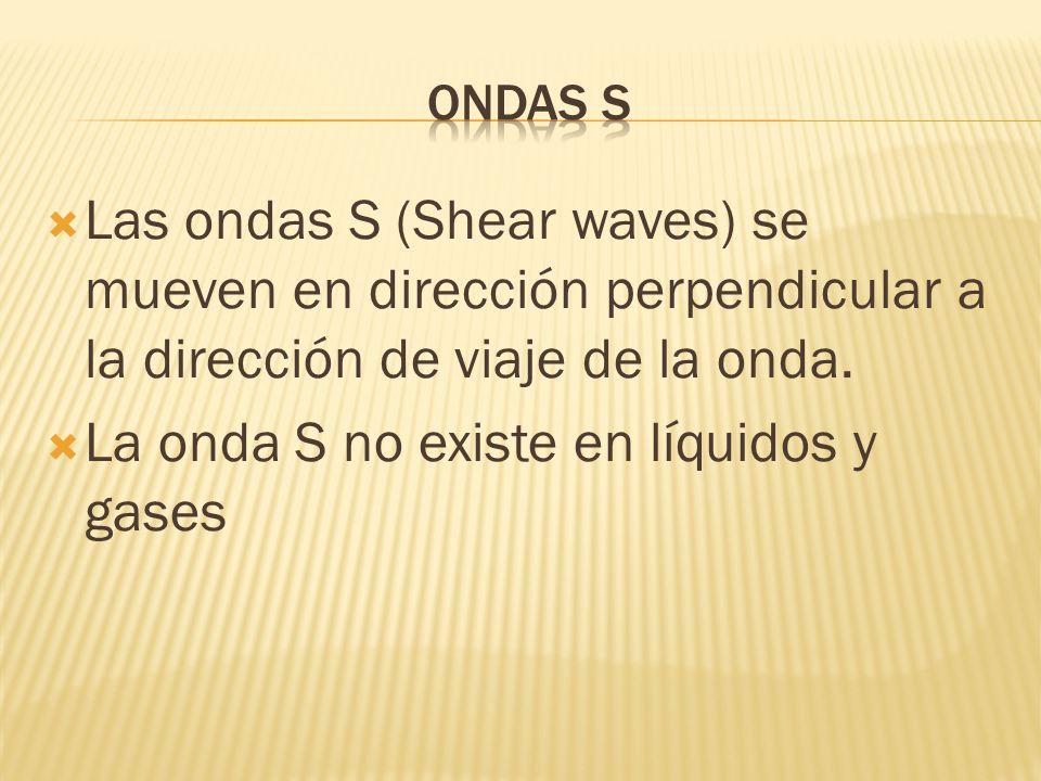 La onda S no existe en líquidos y gases