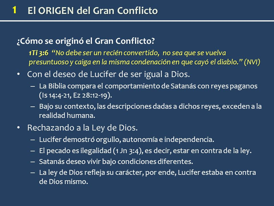¿Cómo se originó el Gran Conflicto