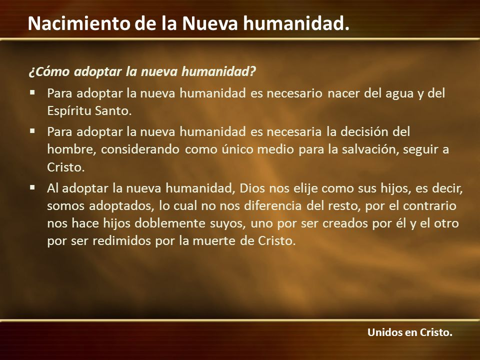 ¿Cómo adoptar la nueva humanidad