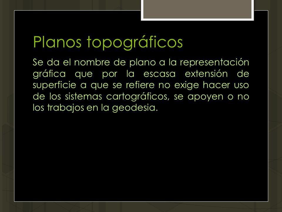 Planos topográficos
