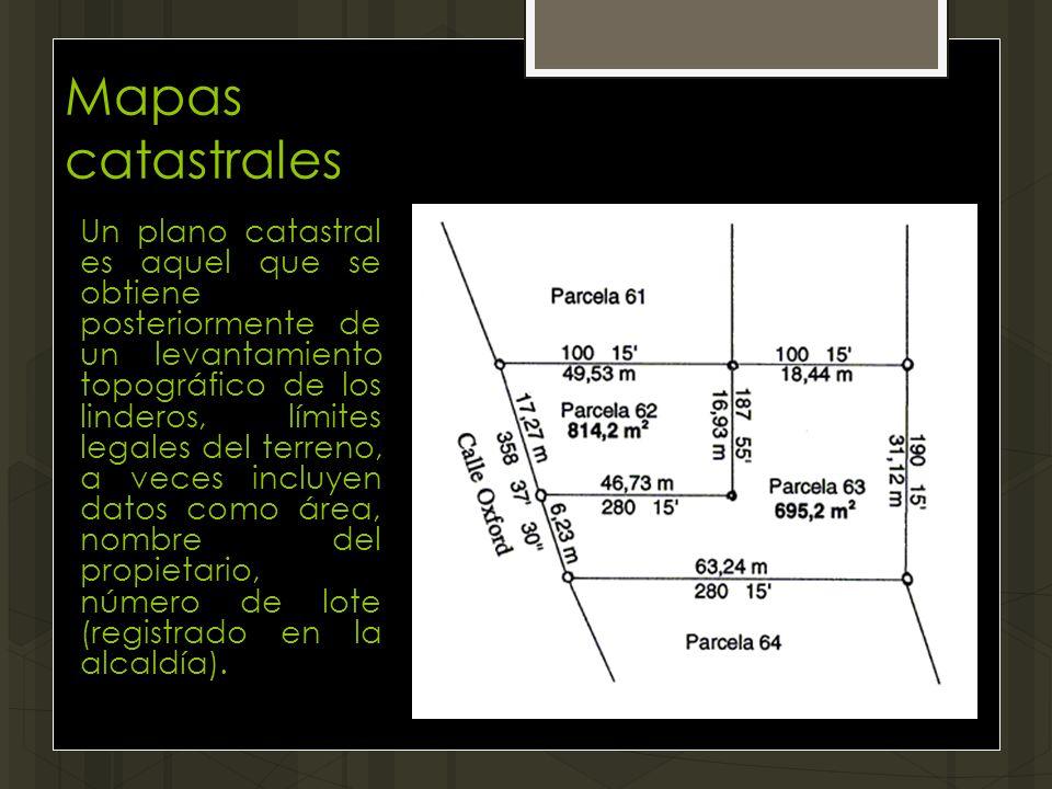 Mapas catastrales