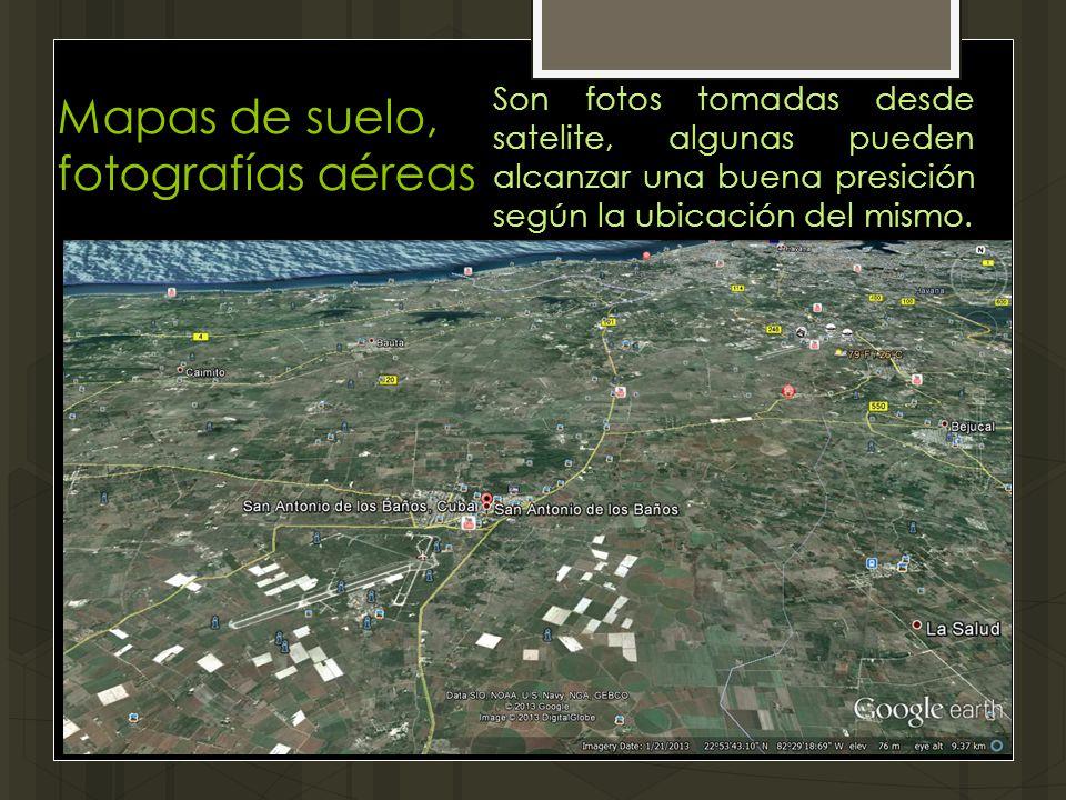 Mapas de suelo, fotografías aéreas
