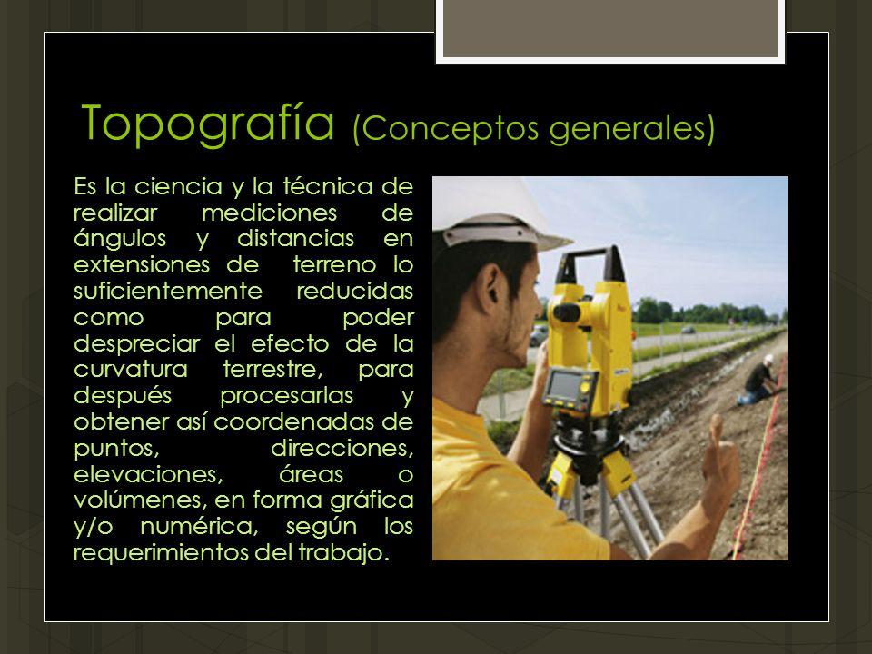 Topografía (Conceptos generales)