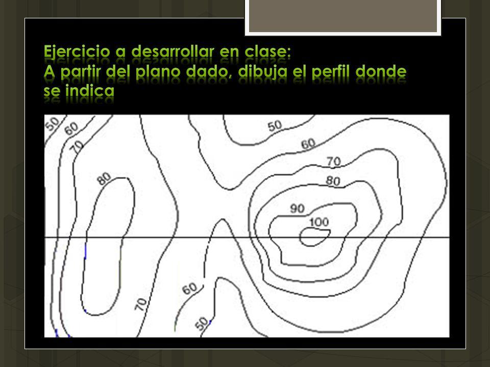 Ejercicio a desarrollar en clase: A partir del plano dado, dibuja el perfil donde se indica