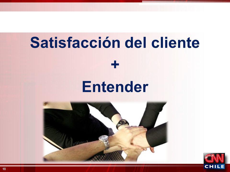 Satisfacción del cliente + Entender