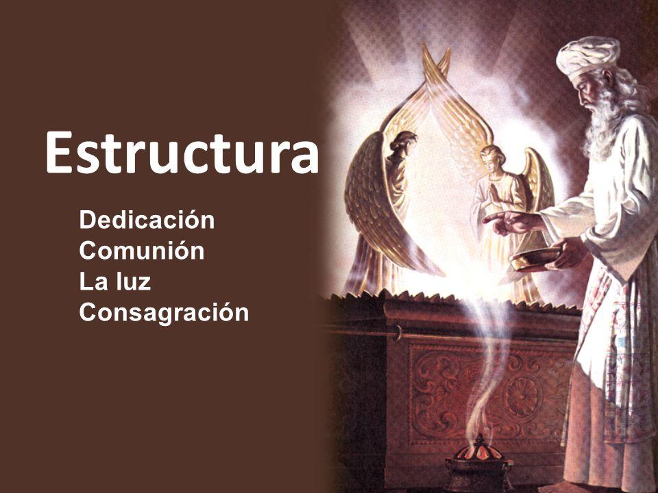 Estructura Dedicación Comunión La luz Consagración