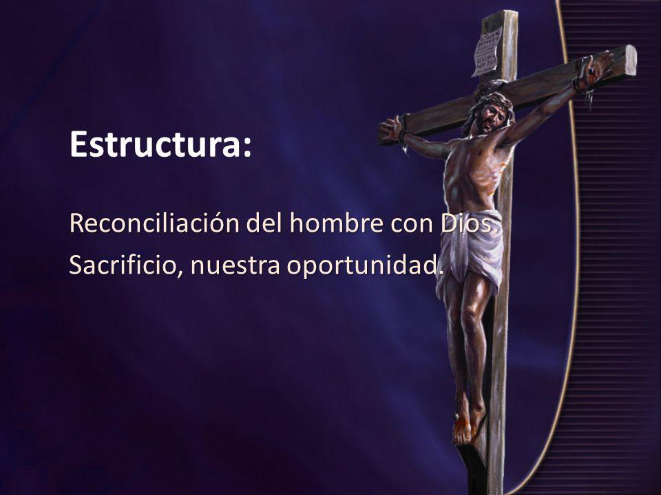Reconciliación del hombre con Dios. Sacrificio, nuestra oportunidad.