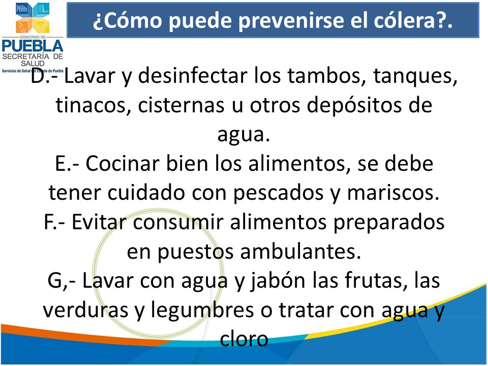 ¿Cómo puede prevenirse el cólera .
