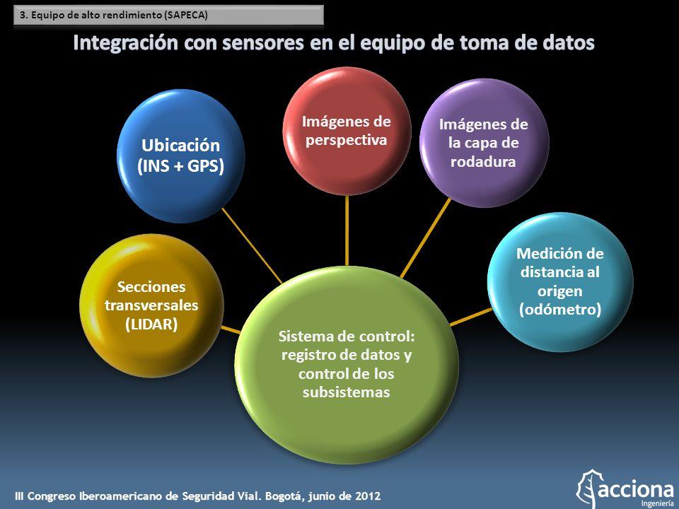 Integración con sensores en el equipo de toma de datos