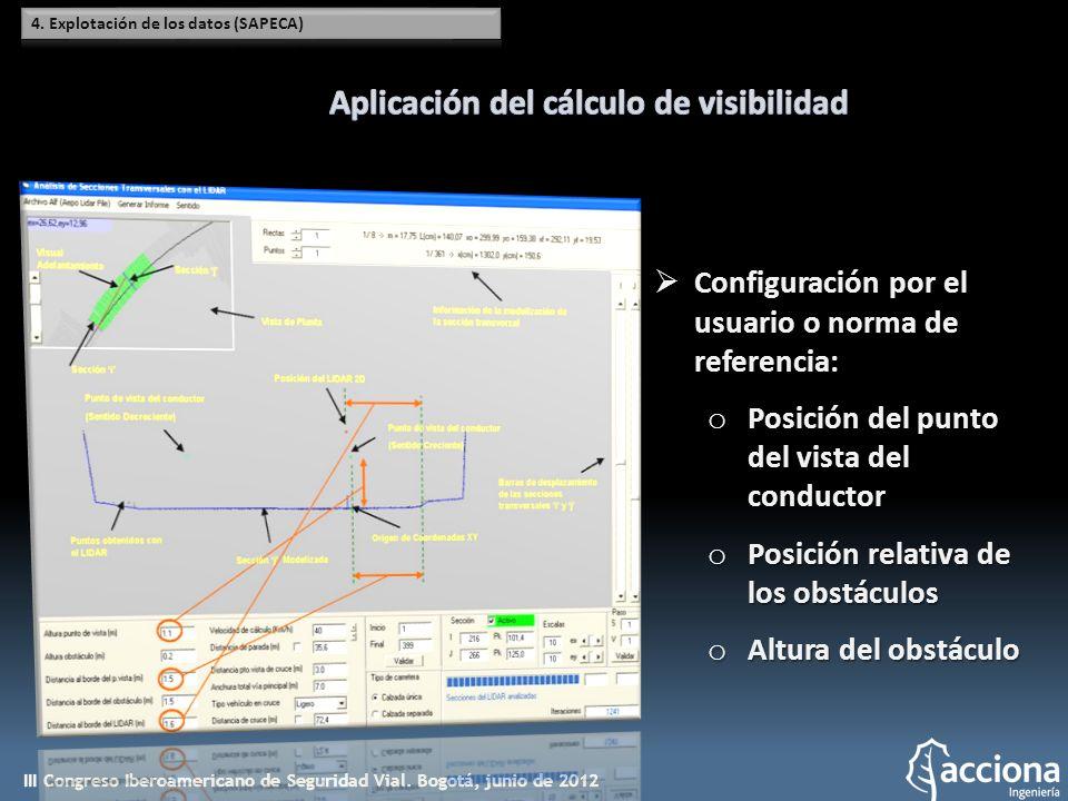 Aplicación del cálculo de visibilidad