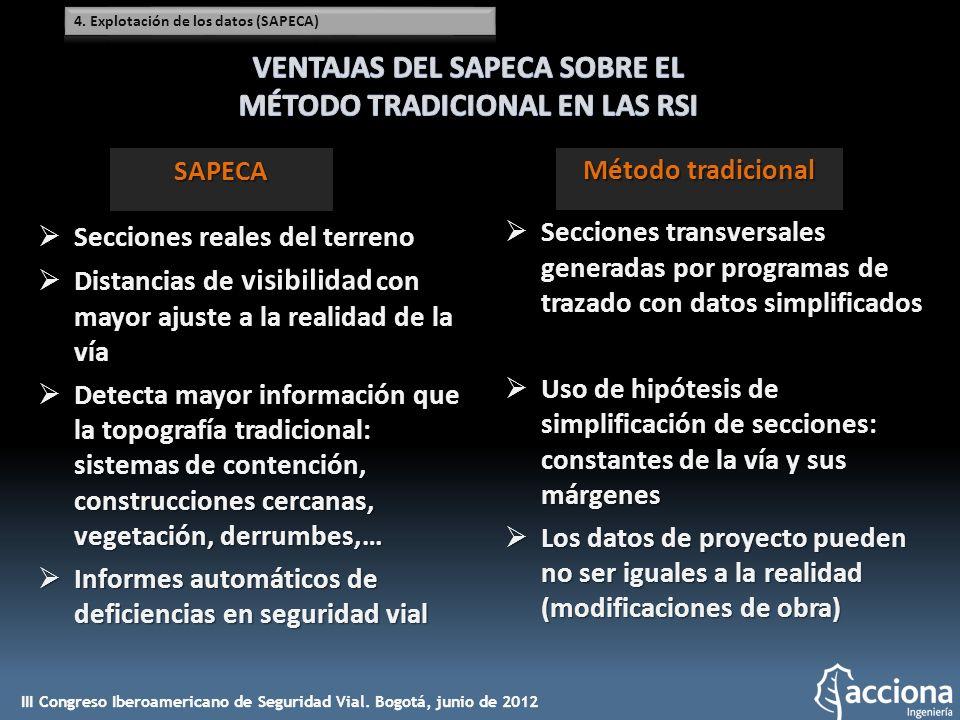 VENTAJAS DEL SAPECA SOBRE EL MÉTODO TRADICIONAL EN LAS RSI