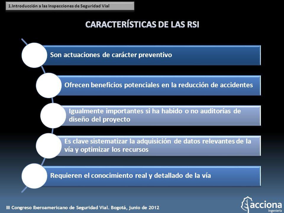 CARACTERÍSTICAS DE LAS RSI