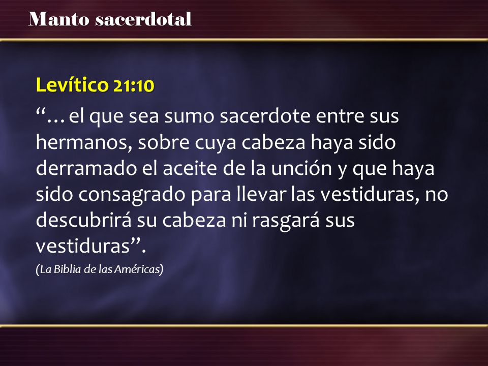 Levítico 21:10